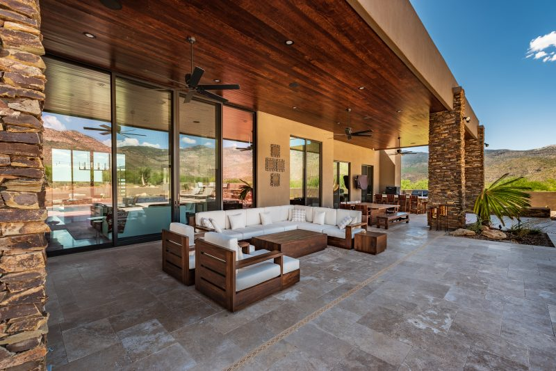 Patio with couches